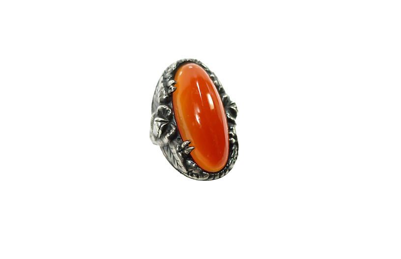Arts & Crafts Carnelian & Sterling Ring