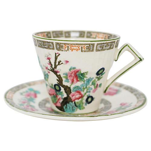 Staffordshire Teacup & Saucer