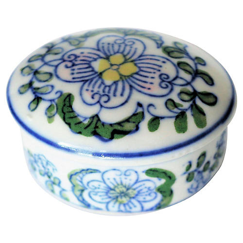 Hand-Painted Ceramic Trinket Box