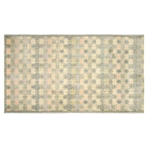 """Art Deco Turkish Rug, 4'3"""" x 7'6"""""""