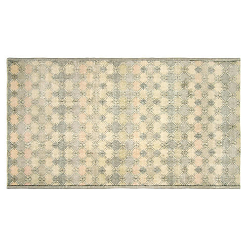 "Art Deco Turkish Rug, 4'3"" x 7'6"""