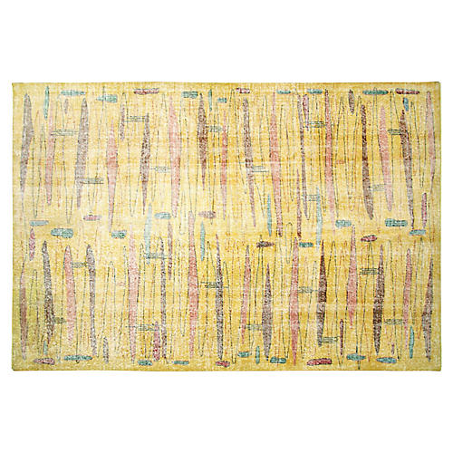 "1960s Turkish Zeki Müren Rug, 6'9"" x 10'"