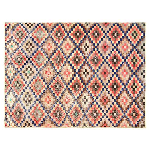 """Art Deco Turkish Rug, 4'4"""" x 5'11"""""""