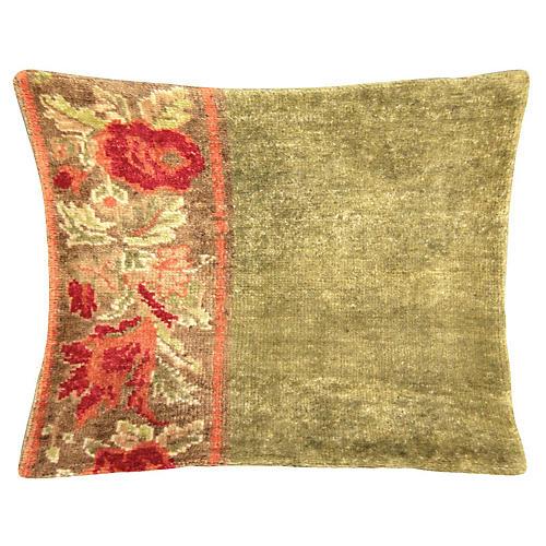 Floral Oushak Fragment Pillow