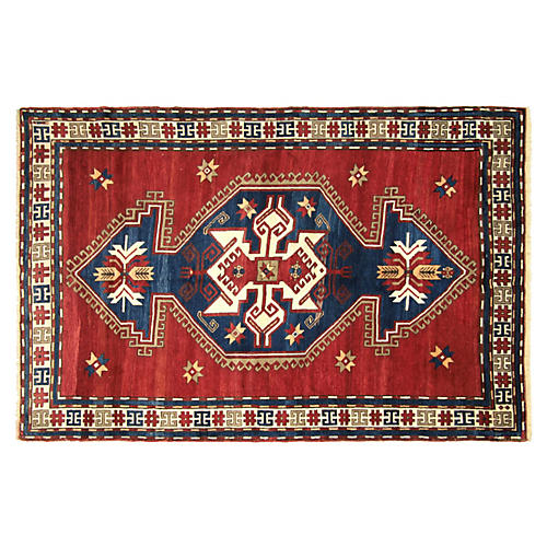 "Antique Caucasian Kazak, 5'7"" x 8'5"""