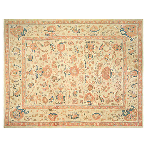 "Turkish Oushak Carpet, 10'8"" x 13'10"""