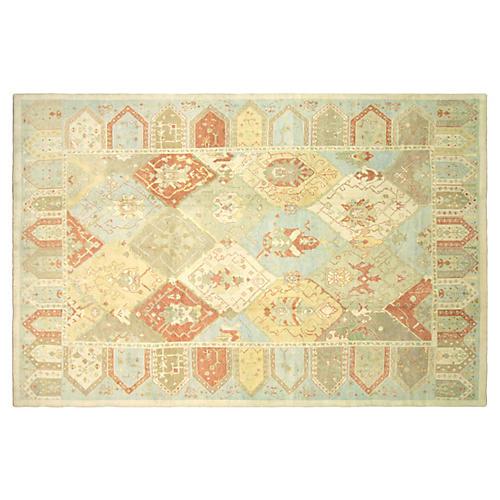 """Turkish Oushak Carpet, 9'10"""" x 14'11"""""""
