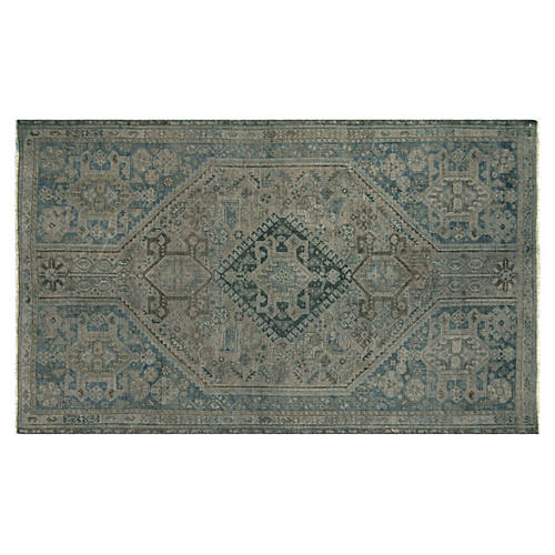 "Overdyed Persian Shiraz Rug, 3'10"" x 6'4"