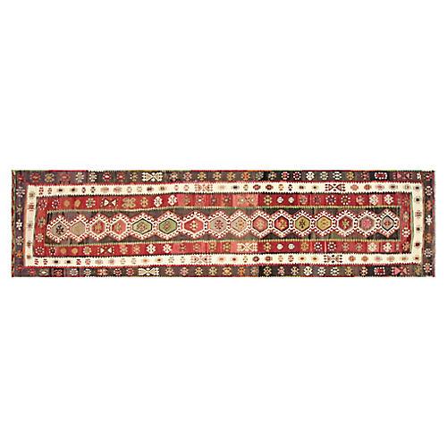 "Antique Anatolian Kilim, 3'6"" x 14'8"""