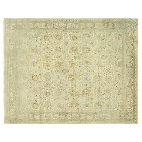"Tabriz-Style Carpet, 12' x 15'5"""
