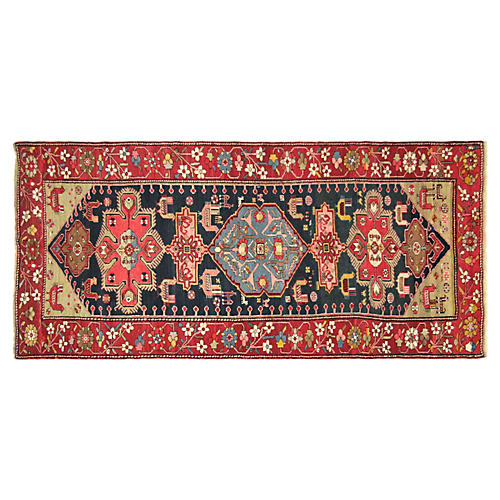 "Antique Karabagh Rug, 4'9"" x 9'10"""
