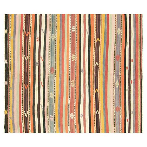 """Anatolian Striped Kilim, 5'8"""" x 6'7"""""""