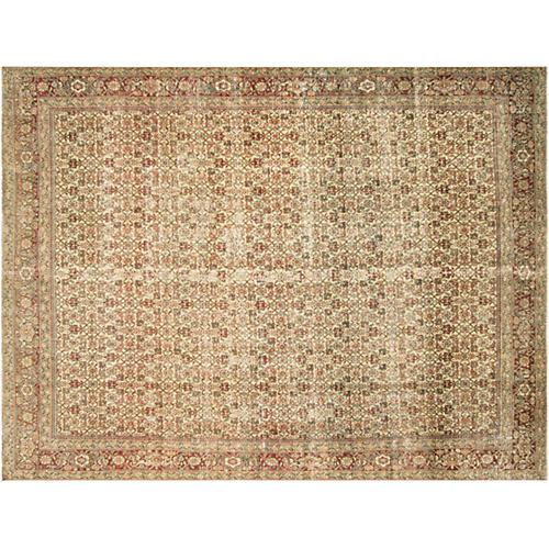"""Persian Distressed Carpet, 8'8"""" x 11'7"""""""