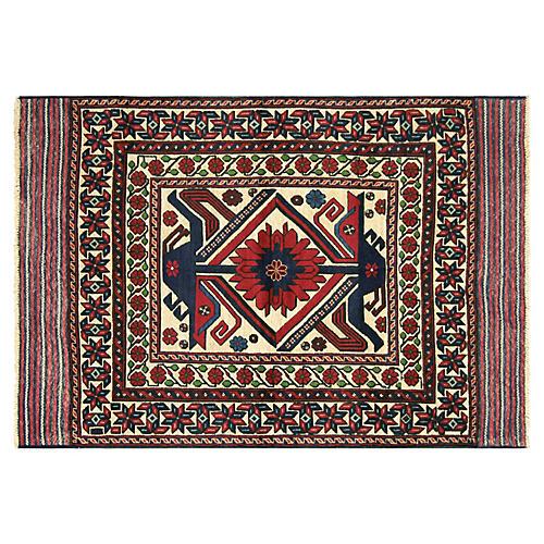 """1980s Afghan Baluch Rug, 4'3"""" x 6'5"""""""