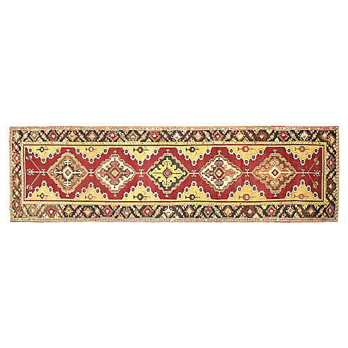 "1960s Turkish Kirsehir Rug, 3'5"" x 12'1"""