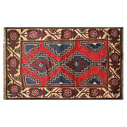 """1970s Afghan Baluch Rug, 2'11"""" x 4'9"""""""
