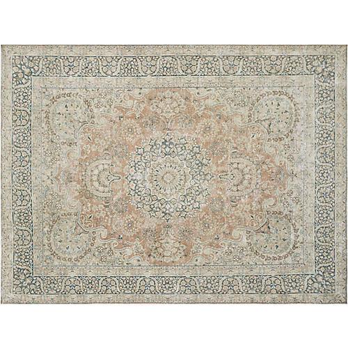 """Persian Distressed Carpet, 9'9"""" x 13'1"""""""