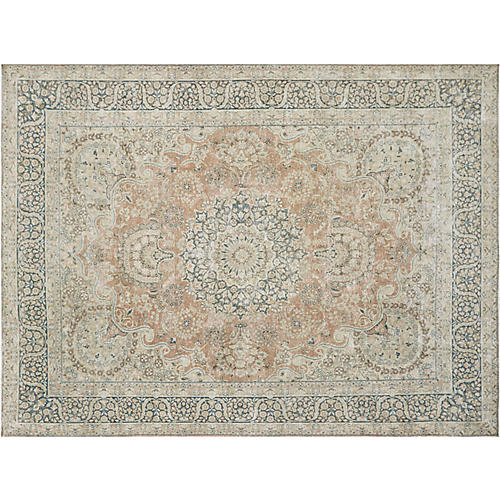 "Persian Distressed Carpet, 9'9"" x 13'1"""