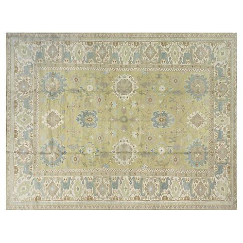 """Turkish Oushak Carpet, 10'8"""" x 14'4"""""""