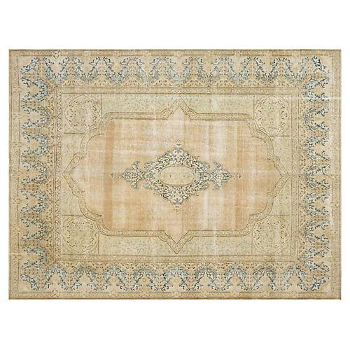 """Persian Distressed Carpet, 9'10"""" x 12'9"""""""