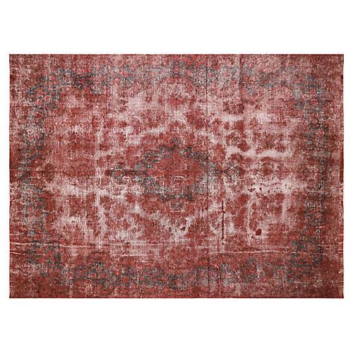 "Persian Overdyed Carpet, 9'9"" x13'2"""