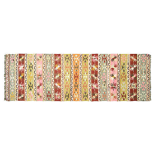 "1950s Turkish Kilim Runner, 2'8"" x 8'7"""