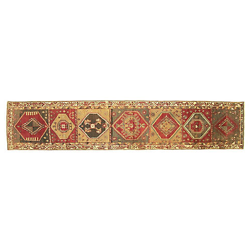 "1960s Turkish Oushak Runner, 2'5"" x12'8"""