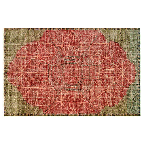 "1960s Turkish Zeki Müren Rug, 6'6""x10'3"""
