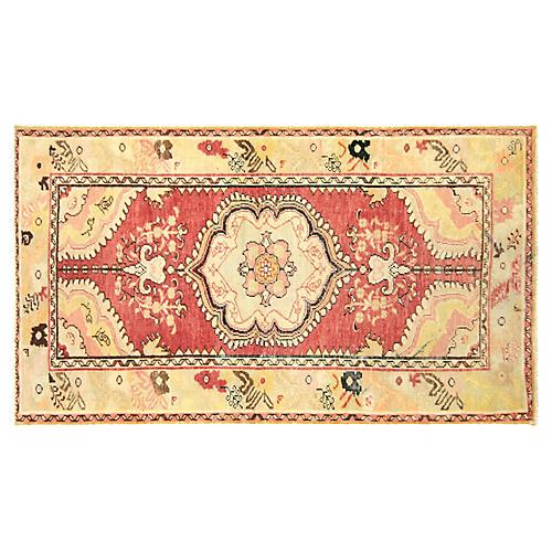 """Anatolian Oushak Rug, 3' x 5'4"""""""