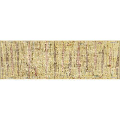 "1960s Turkish Art Deco Rug, 3""4"" x 10'2"""