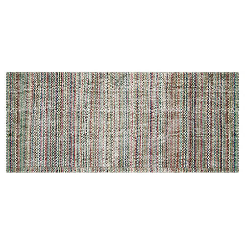 "Art Deco Turkish Runner,3'11"" x 9'2"""