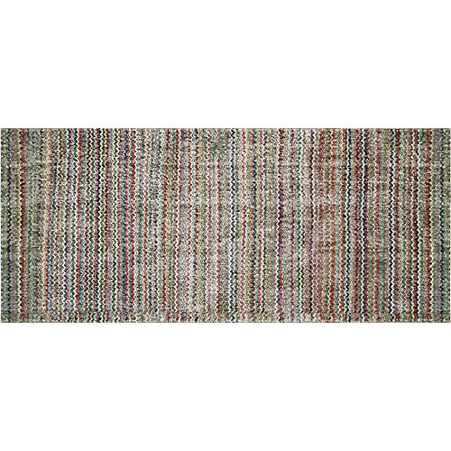"1960s Turkish Art Deco Rug, 3'11"" x 9'2"""