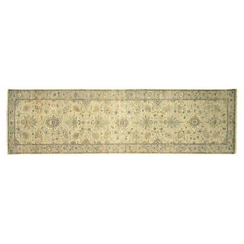Indian Tabriz Carpet - 2'8'' x 9'8''