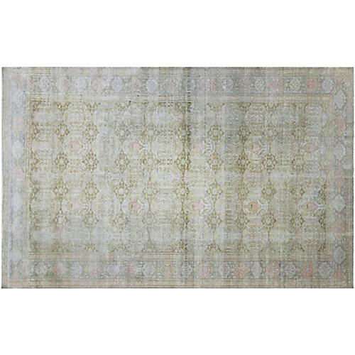 "1960s Turkish Silk Carpet, 6'3"" x 9'9"""