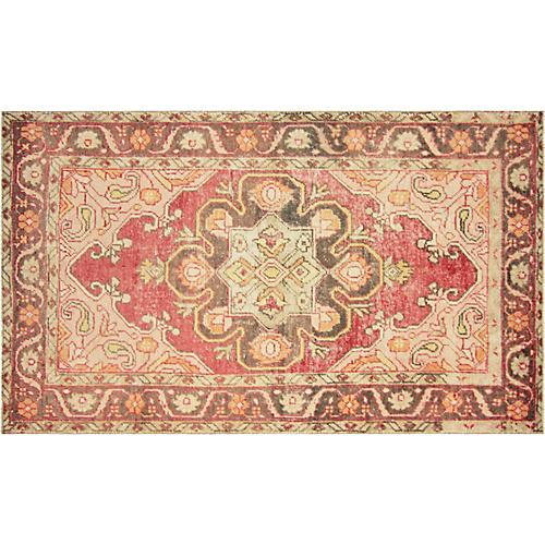 "1960s Turkish Oushak Carpet, 4'9"" x 8'4"""