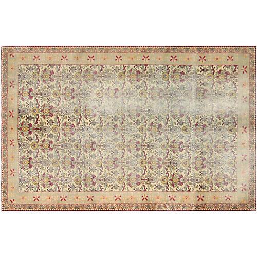 1960s Turkish Oushak Carpet, 4'4'' x 7'