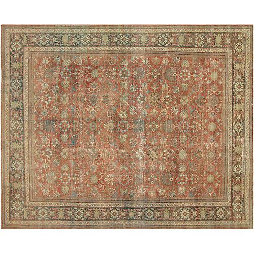 """Antique Persian Mahal, 11'1"""" x 13'10"""""""