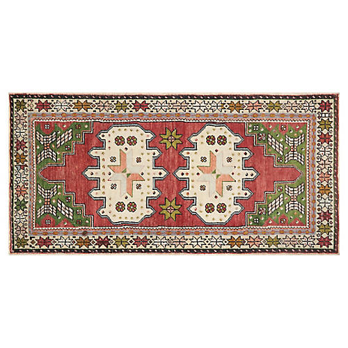 1960s Turkish Oushak, 3'6''x7'