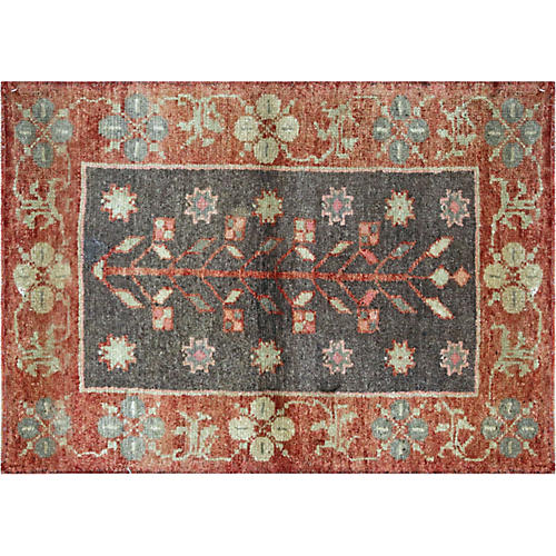 "1960s Turkish Oushak Rug, 2'3"" x 3'1"""