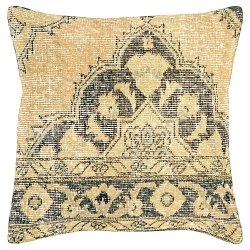 """Oushak Rug Fragment Pillow, 20"""" x 20"""""""