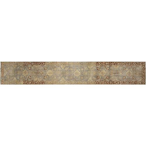 "Indian Tabriz Carpet, 2'5"" x 15'5"""