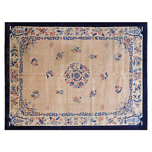 """1940s Chinese Fetty Rug, 8'11"""" x 11'9"""""""