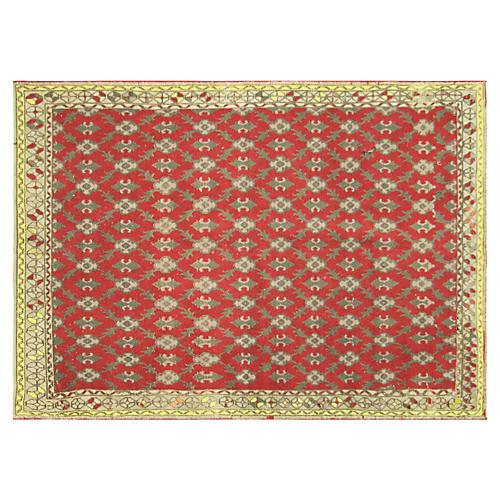 "1960s Turkish Oushak Carpet, 5'1"" x 7'4"""