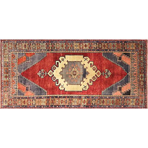 """1960s Turkish Oushak Rug, 5' x 10'6"""""""