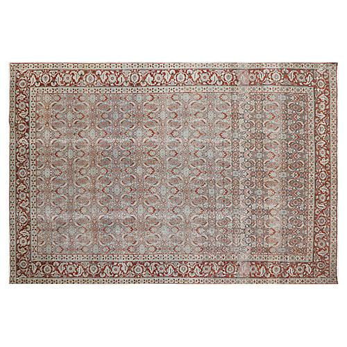 "1940s Persian Tabriz Carpet, 7'4"" x 11'"