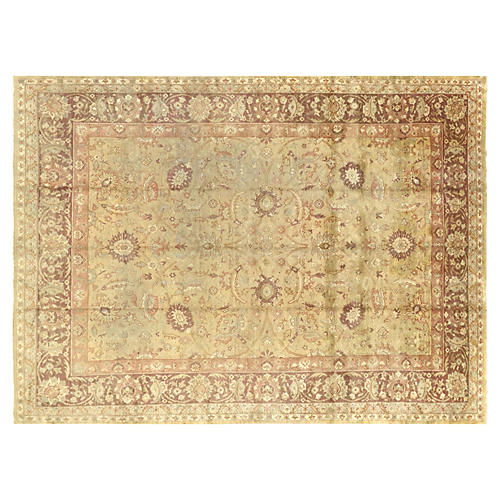 "1940s Turkish Oushak Carpet, 9'9"" x 13"""