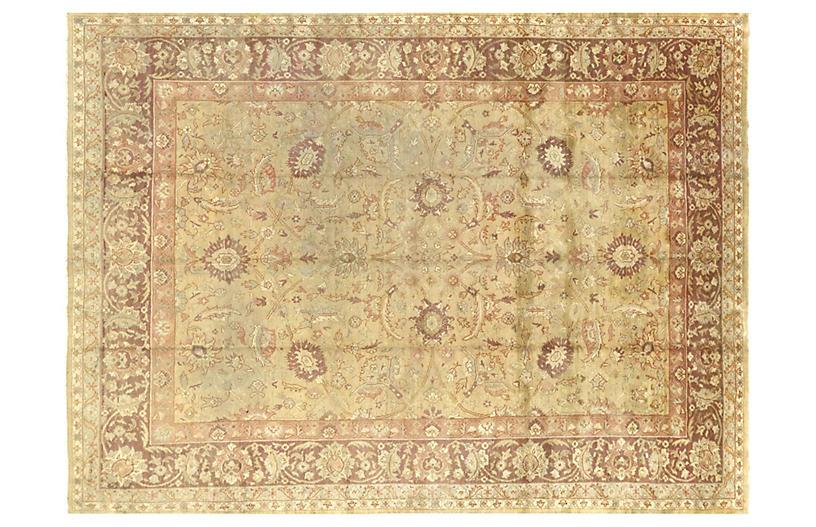 1940s Turkish Oushak Carpet, 9'9