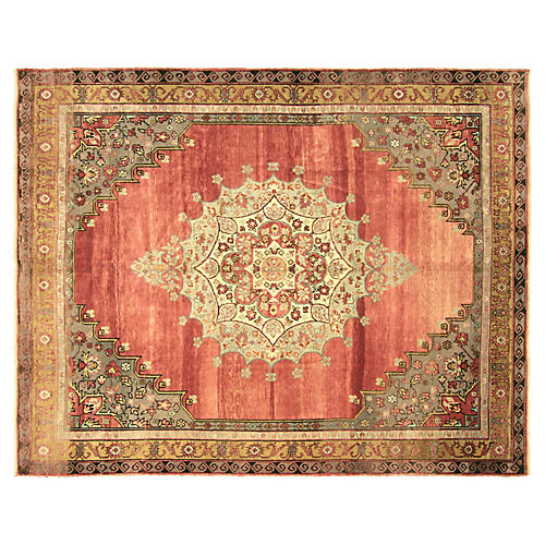 "1960s Turkish Oushak Carpet, 8'10""x11'2"""