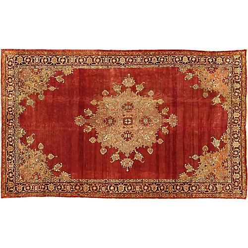 """Antique Turkish Konya Carpet, 9' x 14'9"""""""