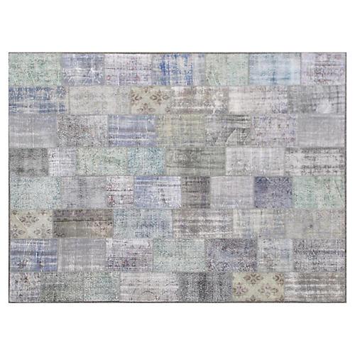 "Overdyed Patchwork Carpet, 10'2"" x 13'4"""